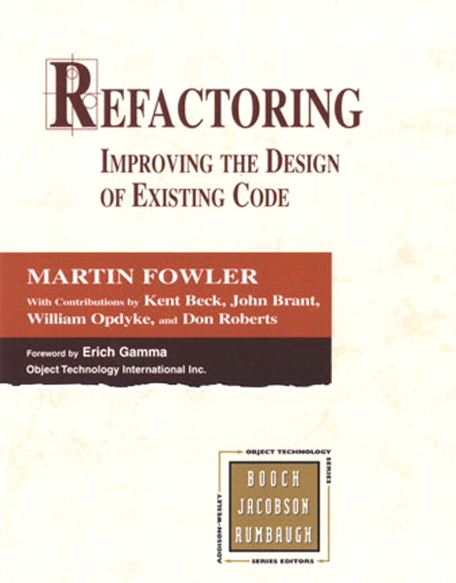 Refactoring Improving The Design Of Existing Code Pdf
